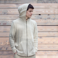 100% Hemp Hoodie Classic with zipper