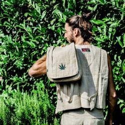 100% Hanf Rucksack/Tasche mit Hanf Symbol
