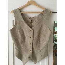Luzifer hemp Waistcoat vest size L