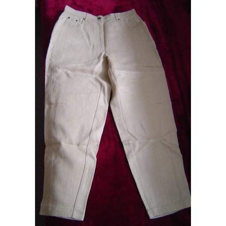 Hemp pants natural undyed sturdy canvas size XL