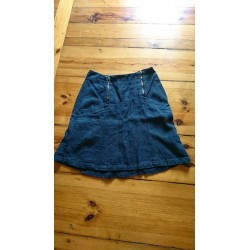Navy blue hemp skirt from Luzifer size M