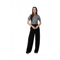 """100% Hanf kurzärmliges Damenhemd """"Kieselstein"""" Größe S aus Indien"""