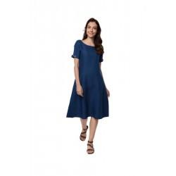 """100% Hanf langes Kleid """"Zwielicht"""" Größe M aus Indien"""