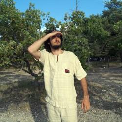 100% hemp natural shirt 'Noumenon' size M