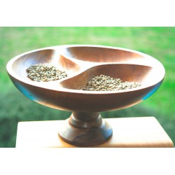 Wooden bowl 'Mysterious Triforce'