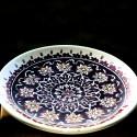 Turkish handmade plate from Kütahya 'Labyrinth of flowers'