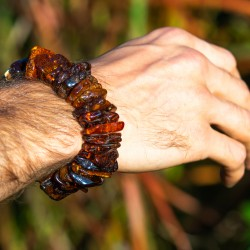 Amber bracelet 'Bunch of power'