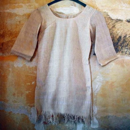 Little bohemian 100% hemp dress 'Queen of the flux'