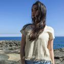 Woman 100% hemp top size M 'Princess of nature'