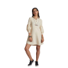 100% hemp Horizon Lego-mutton Shirt Dress - Beige