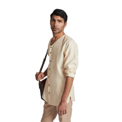 100% hemp Crescent V Neck Kurta